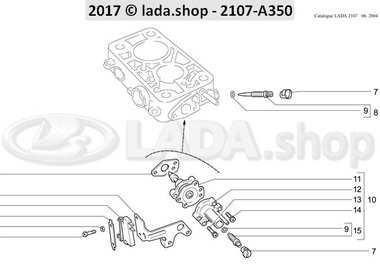 C7 Adjustment screws for idle running