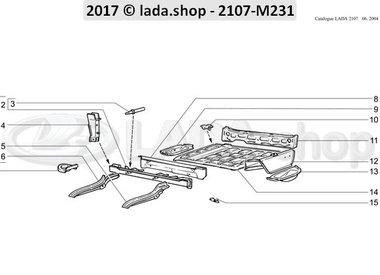 C7 Rear body floor