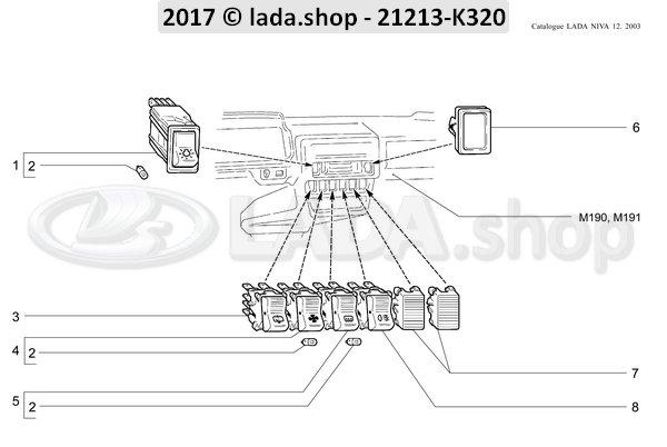Samara External Lighting Switch 2108-3709600 Lada Niva 1700