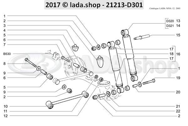 LADA 21213-2910000-86, Satz der Hinterradaufhaengung Stangen