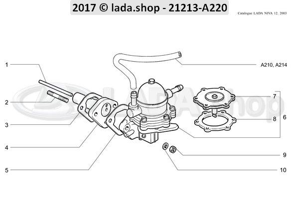 LADA 2101-1106010, Bomba de combustible
