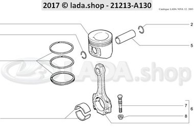 N3 Connecting rods and pistons 1700