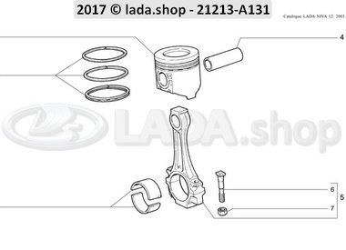 N3 Connecting rods and pistons 1600