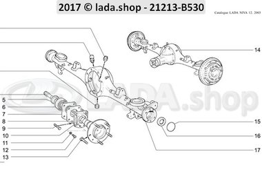 N3 Rear axle and axle shafts