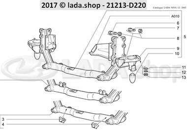N3 Front suspension cross-member