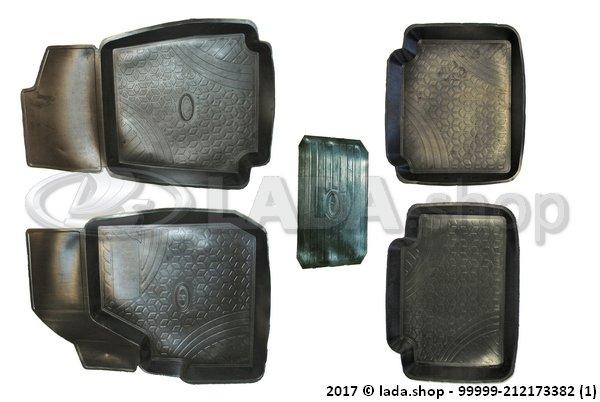 LADA 99999-2121733-82, Esteras de cabina LADA 4x4 (3-puertas). clase ORIGINAL (Goma)
