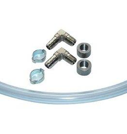 Monitoring hose set for petrol or oil