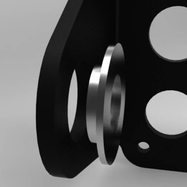 Kollies Parts Side Mount License Plate Spacer 3/4 (19mm)