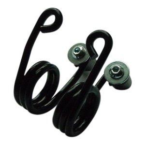 Hairpin Motor Saddle Spring Black 2 inch with fastening kit