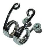 Hairpin Motor Saddle Spring Chrome 2 inch with fastening kit