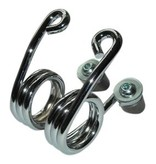 Kollies Parts Hairpin Seat Springs Chrome 3 inch with Mountingkit