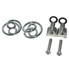 "Saddle Springs Chrome 1 ""with mounting set"
