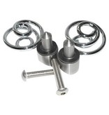 "Motor Saddle Springs chrome 1 ""with mounting kit"