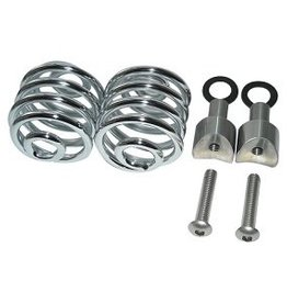 "Saddle Springs Chrome 2 ""with mounting set"