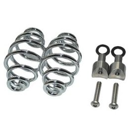 "Saddle Springs Chrome 4 ""with mounting set"
