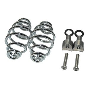 """Motor Seat Springs chrome 4"""" with mounting set"""