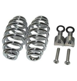 "Saddle Springs Chrome 5 ""with mounting set"