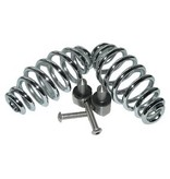 """Motor Seat Springs chrome 5"""" with mounting set"""
