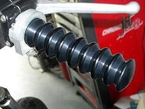 Kollies Parts Retro Harley Davidson Handvatten - Zwart