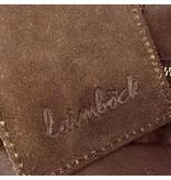 Laimbock leren tas Formello met korte hengsels en lange verstelbare schouderband.