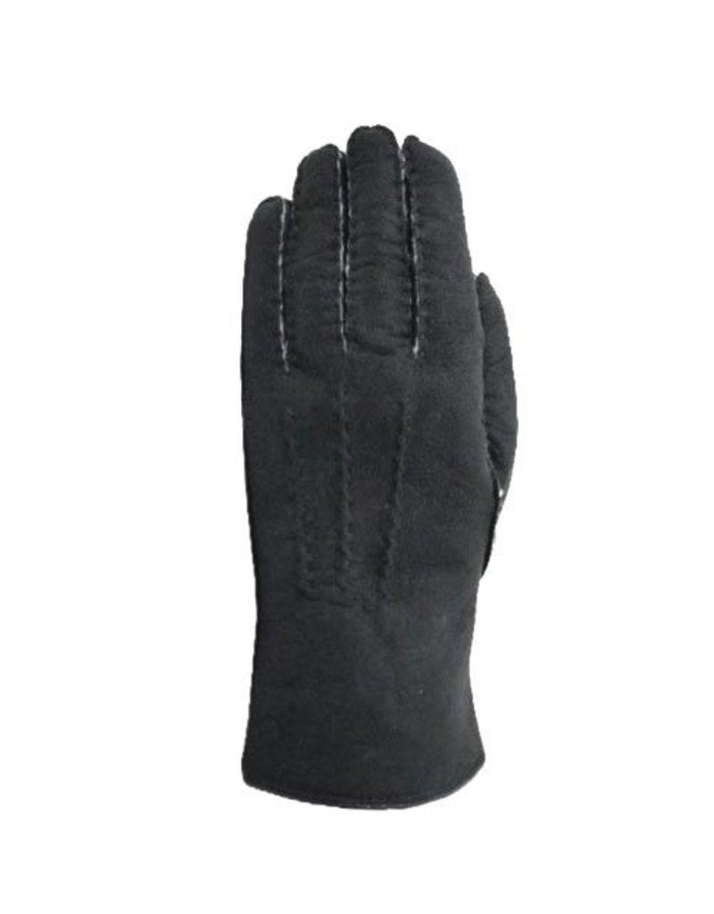Laimbock Lammy handschoen van curly reversed lambskin handgenaaid