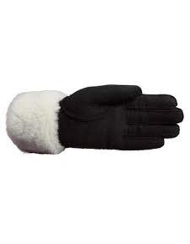 Laimbock Lamsleren dameshandschoen met omgeslagen boord.