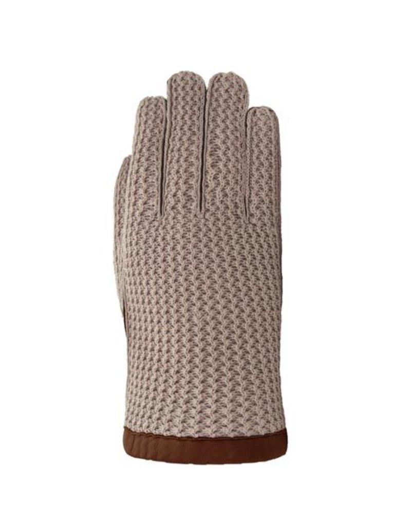 Laimbock Heren handschoen met crochet bovenhand.