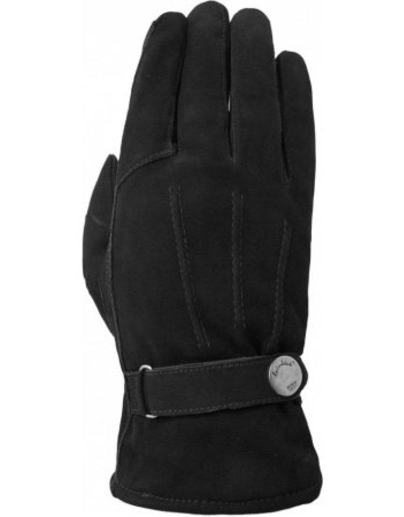 Laimbock Nubuck heren handschoen met drie opnaden.