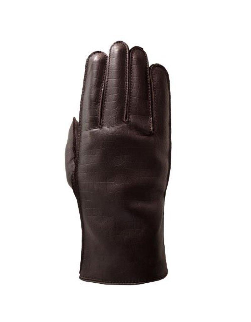 Laimbock Leren heren handschoen met croco print.