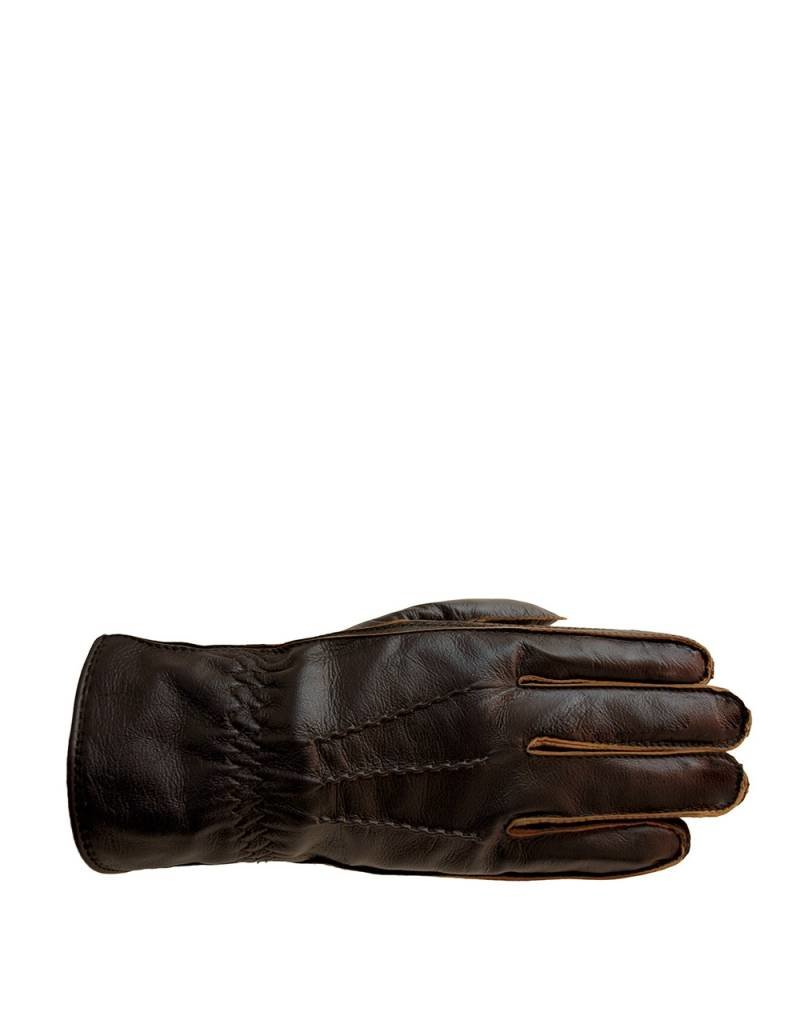 Laimbock Leren heren handschoen met vintage uitstraling.