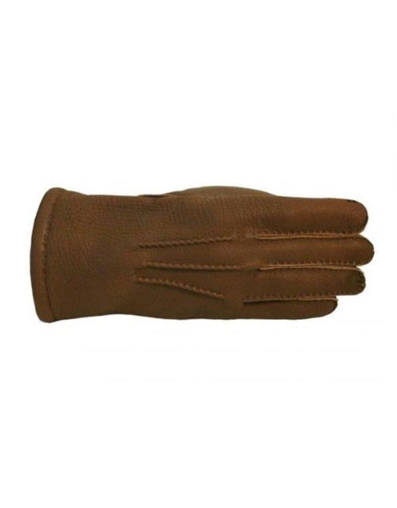 Laimbock Handschoen Bedale Havana van Amerikaans hertenleer