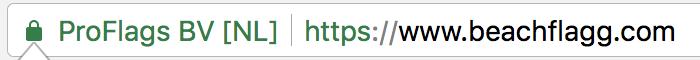 SSL-sikkerhet beachflags.com