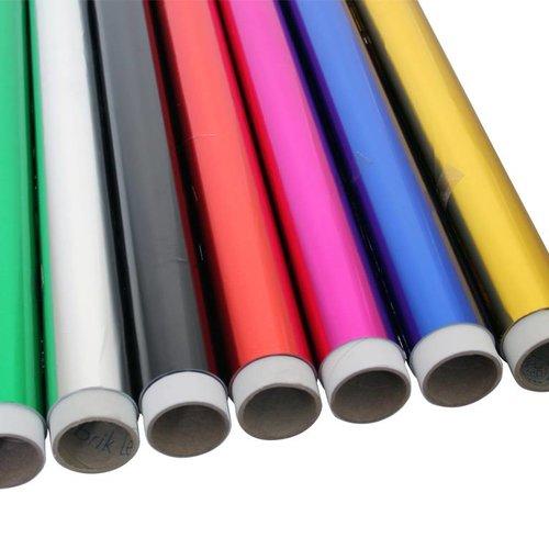 Gekleurde Decor/etalage aluminiumfolie 20my, 100cmx50m