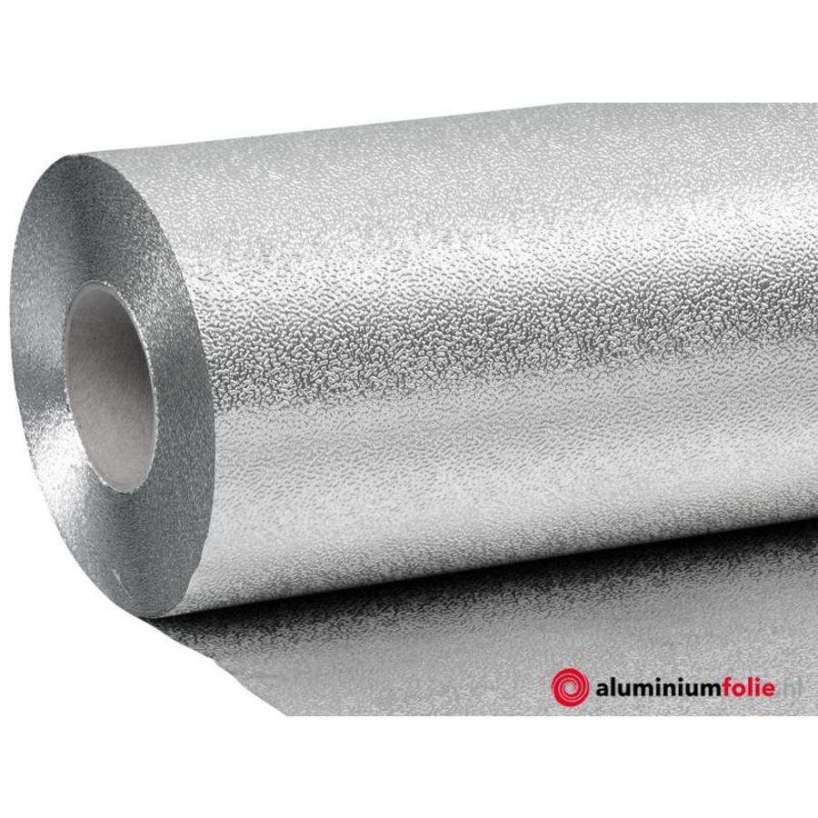 0.100 mm  dik aluminium dampscherm met grove korrel structuur.