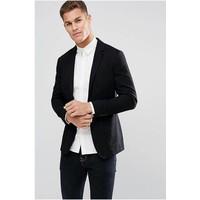 thumb-Geruite blouse zwart-2