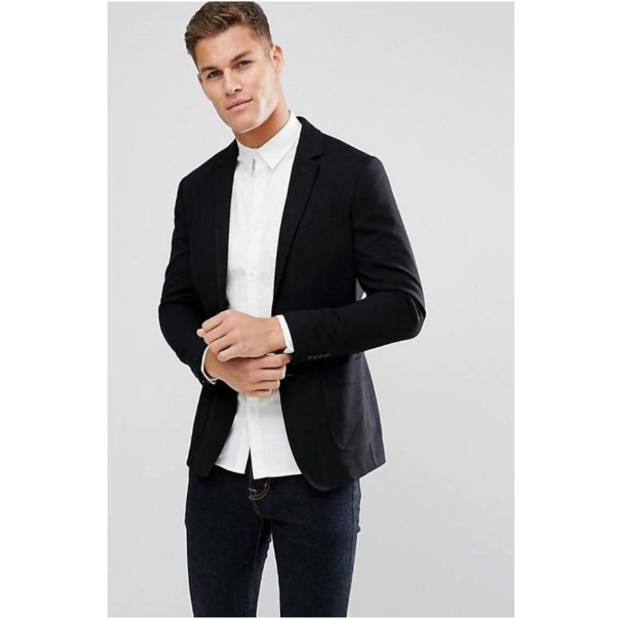 Geruite blouse zwart-2