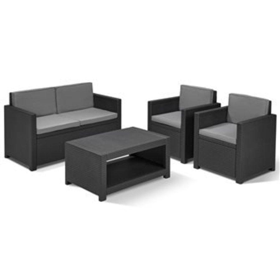 Black Garden furniture-1