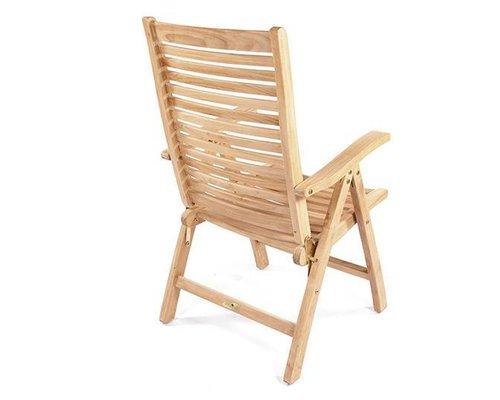 Teak verstelbare stoel Houston
