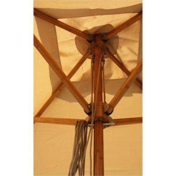 Bambrella parasols Bambrella Parasol Levante - 4m rond - Harvest Wheat Spuncrylic