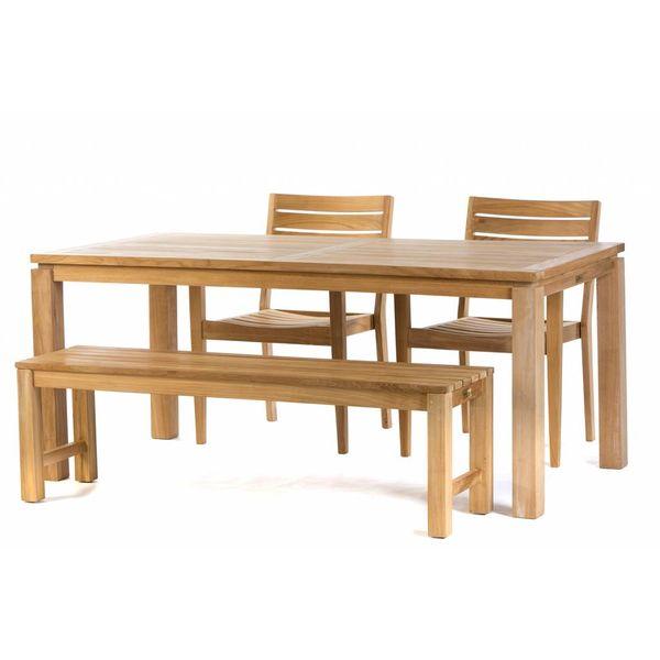 Garden Teak Teak tuinset: Albany Tafel (180cm) | St.tropez  stoelen | Sita Bank 150