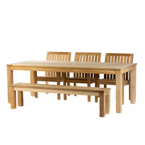 Garden Teak Teak tuinset: James Tafel (240) | Comfort stoel | James bank 190