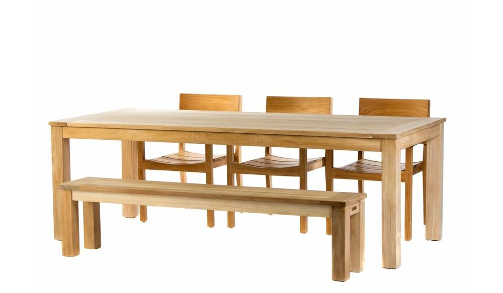 Teak tuinset: James Tafel (240) | James stapelstoel | James bank 190