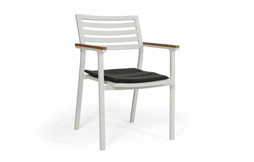 Brafab Dining stapelstoel Olivet | Wit/grijs