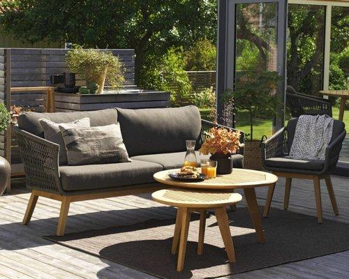 Kenton loungebak | 3-zits | Teak&Wicker