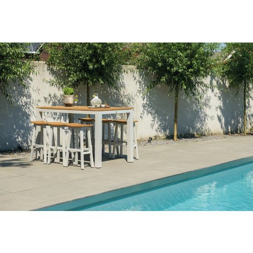 SUNS tuinmeubelen Sense bartafel | 180 x 80 | Mat wit