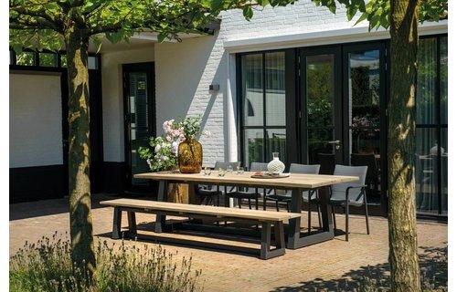 SUNS tuinmeubelen Ovada tuinbank | 280 cm | Mat royal grijs