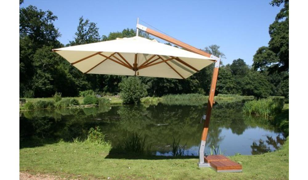 Parasol Side Wind | Forest Green | 3x3m