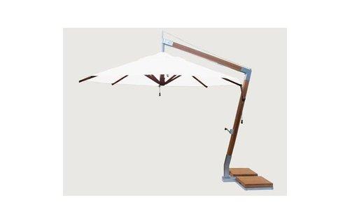 Bambrella parasols Bambrella Parasol Side Wind | Ice white | 3x3m