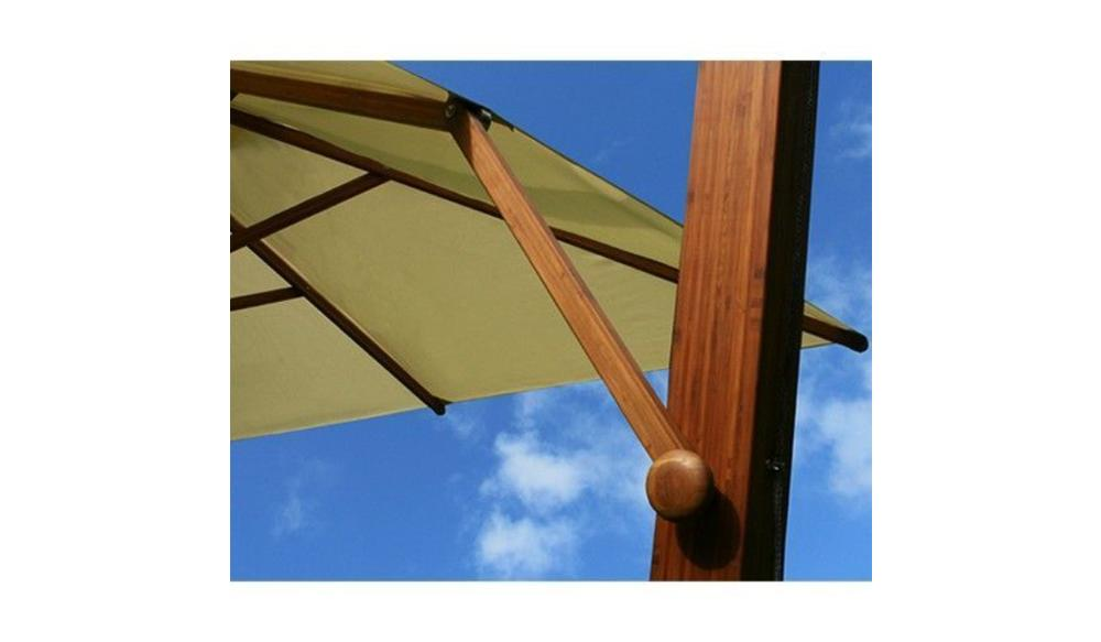 Parasol Side Wind | Ice white | 3x3m