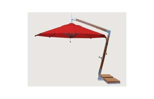 Bambrella Parasol Side Wind |rood | 3x3m